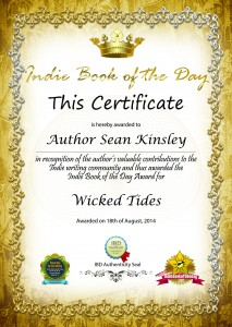 Indie Book of the Day Certificate